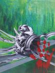 Contorsioni contro natura (Acrilico e collage 30x40) Fiorella Immorlica
