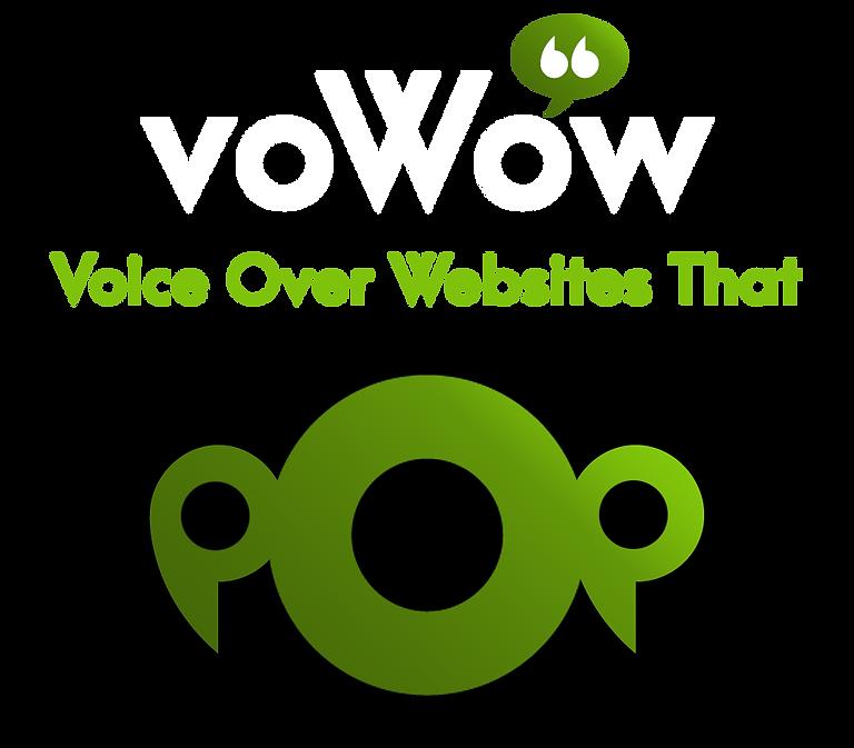 VOWOW Logo, vowow voice over websites that pop, voiceover website,