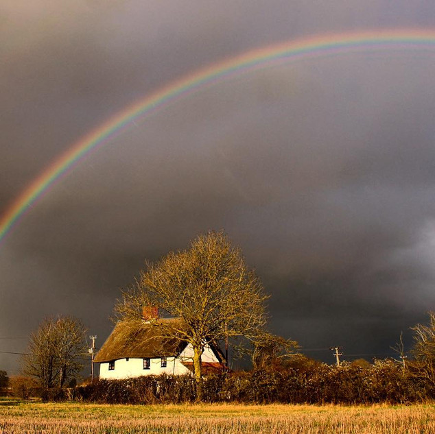 Friary Cottage after the storm
