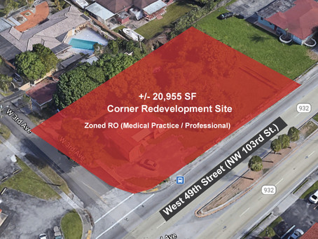 Medical Redevelopment Land with High Traffic Frontage