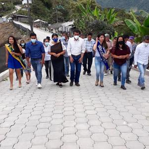 En Selva Alegre, la Prefectura inaugura obra de adoquinado