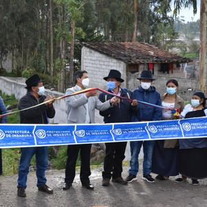 Prefectura construye muros para prevenir desbordamiento de una quebrada en Otavalo