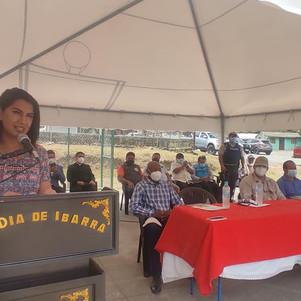 Alcaldía de Ibarra inaugura centro informático Municipal en Parambas