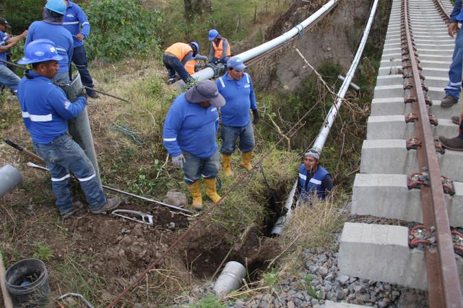EMAPA-I adopta medidas para proteger línea de conducción Pinsaquí-San Antonio