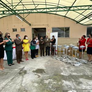 Municipalidad de Ibarra entrega equipamiento a hospitales de la ciudad