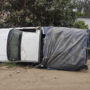 Volcamiento en Chaltura; ECU 911 coordinó atención a persona afectada