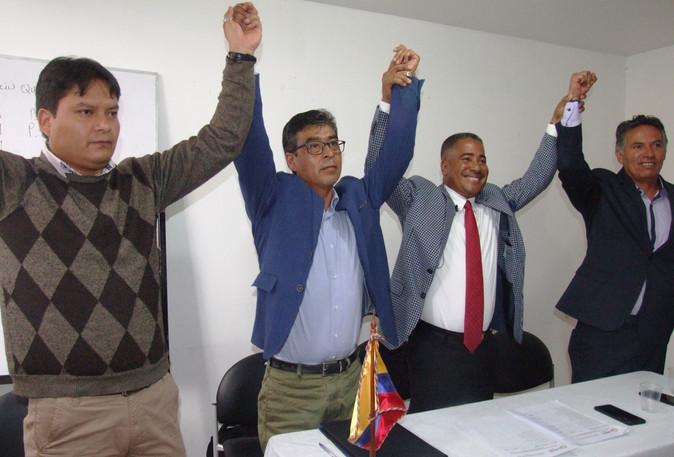 Santiago Lozano se posesiona como presidente de la Conagopare Imbabura