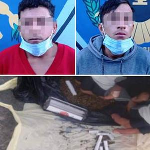 Extranjeros detenidos con 90 dosis de sustancia estupefaciente