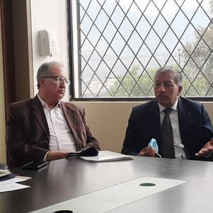 Luis Marcillo se reunió con directivos del IESS-Imbabura