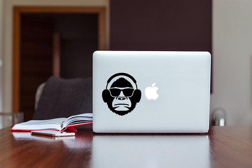 Monkey DJ Decal Sticker For Laptop & MacBook