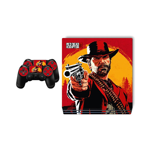 PS4 Pro Red Dead Redemption Skin For PlayStation 4
