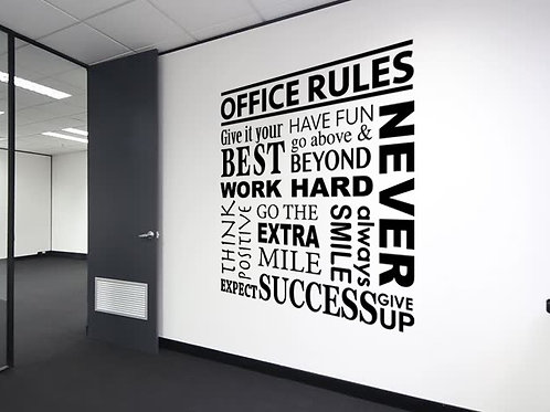 Office Quote #3 Decal Wall Sticker