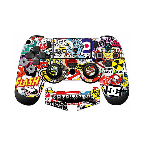 PS4 Sticker Bomb #1 Skin For PlayStation 4 Controller