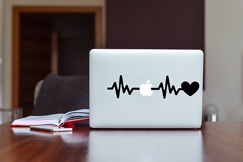 Heartbeat Decal Sticker For Laptop & MacBook