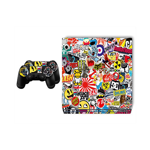 PS4 Pro Sticker Bomb Skin For PlayStation 4