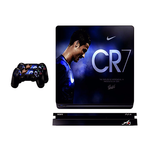 PS4 Slim CR7 #1 Skin For PlayStation 4