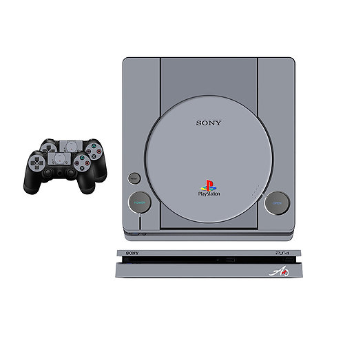 PS4 Slim PS1 Skin For PlayStation 4