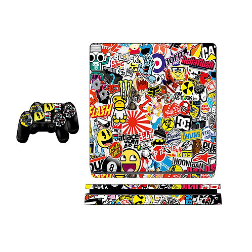 PS4 Slim Sticker Bomb Skin For PlayStation 4