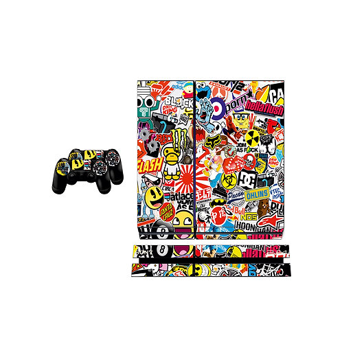 PS4 Standard Sticker Bomb Skin For PlayStation 4