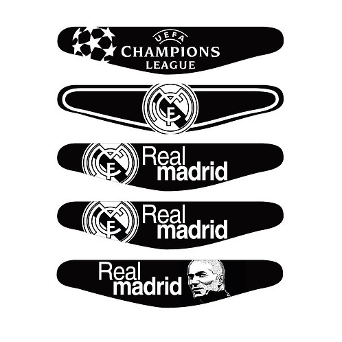 5X PS4 Real Madrid CF Light Bars Package PlayStation 4