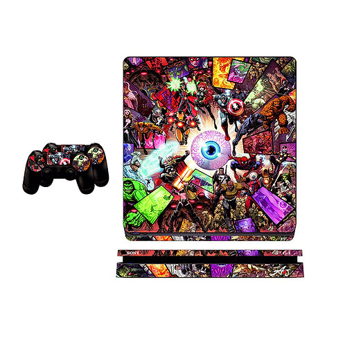 PS4 Slim Heros Skin For PlayStation 4