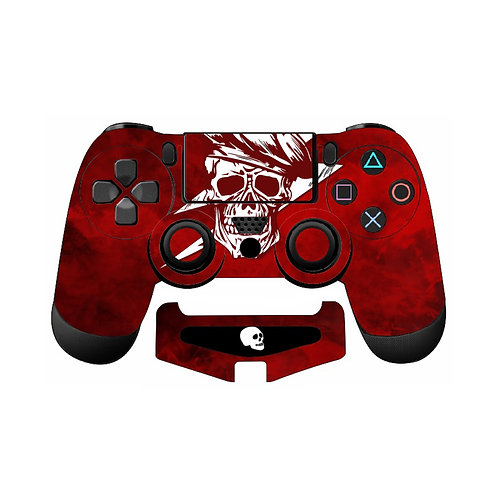 PS4 Red Skull Skin For PlayStation 4 Controller