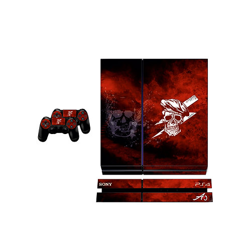 PS4 Standard Red Skull Skin For PlayStation 4