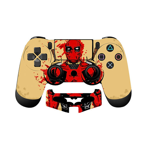 PS4 Deadpool Skin For PlayStation 4 Controller