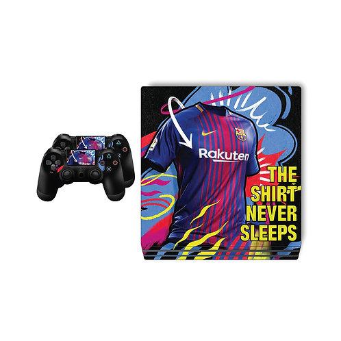 PS4 Pro FC Barcelona #4 Skin For PlayStation 4