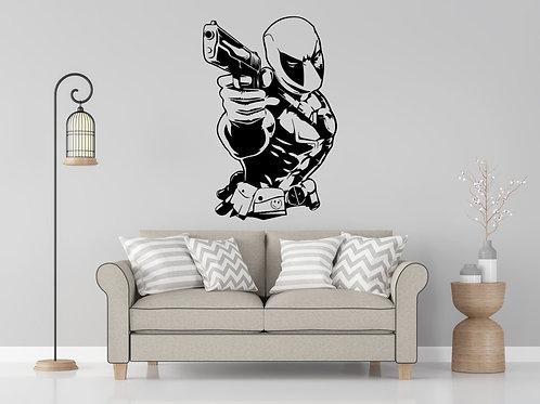 Deadpool Decal Wall Sticker