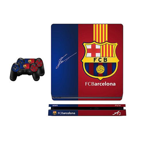 PS4 Slim FC Barcelona #1 Skin For PlayStation 4