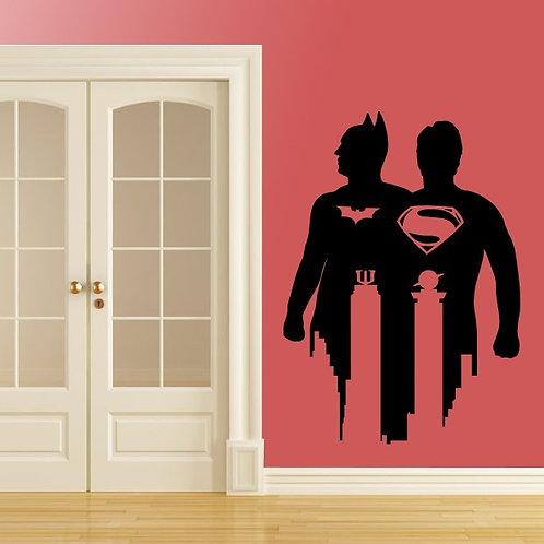Batman VS Super Man Decal Wall Sticker