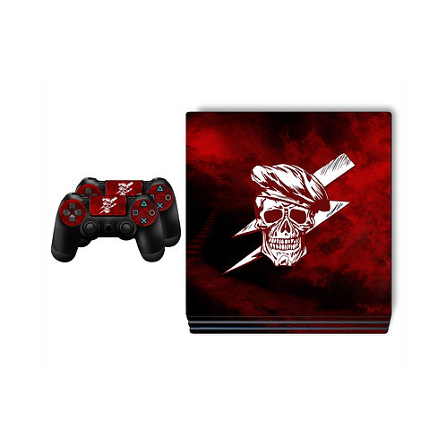 PS4 Pro Red Skull Skin For PlayStation 4