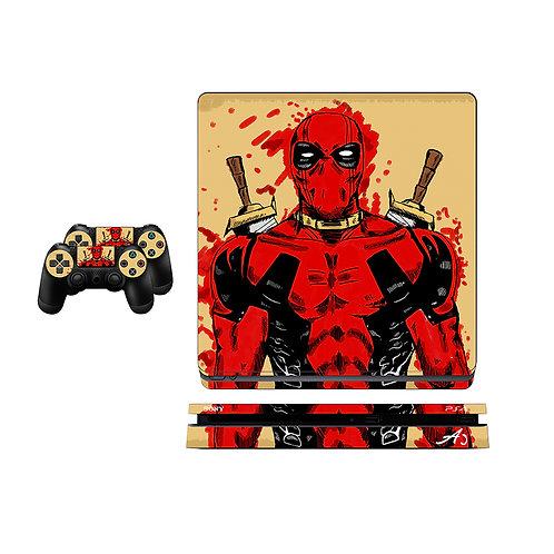 PS4 Slim Deadpool Skin For PlayStation 4