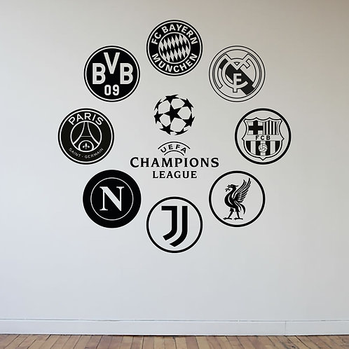 UEFA Champions League Decal Wall Sticker