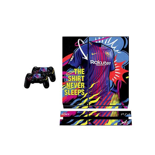 PS4 Standard FC Barcelona #4 Skin For PlayStation 4