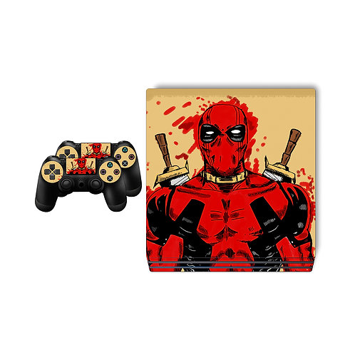 PS4 Pro Deadpool Skin For PlayStation 4