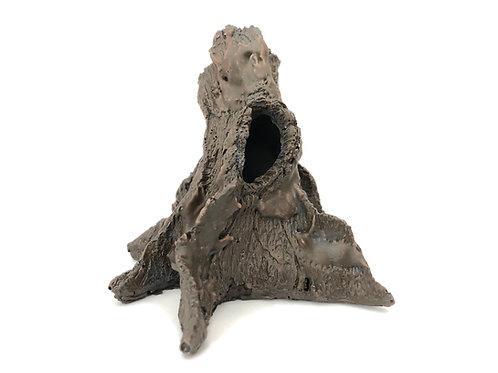 Small Tree Stump Reptile Ornament
