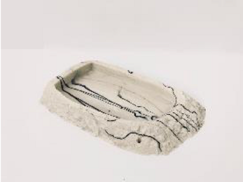 Flat Faux Marble Reptile Bowl