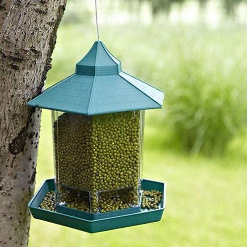 Panorama Bird Feeder, Roof Hanging Bird Feeder for Garden