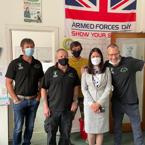 Great to have a visit by local MP Lisa Nandy