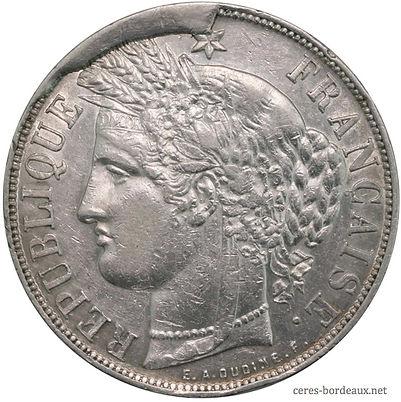 5 Francs monnaie fautée