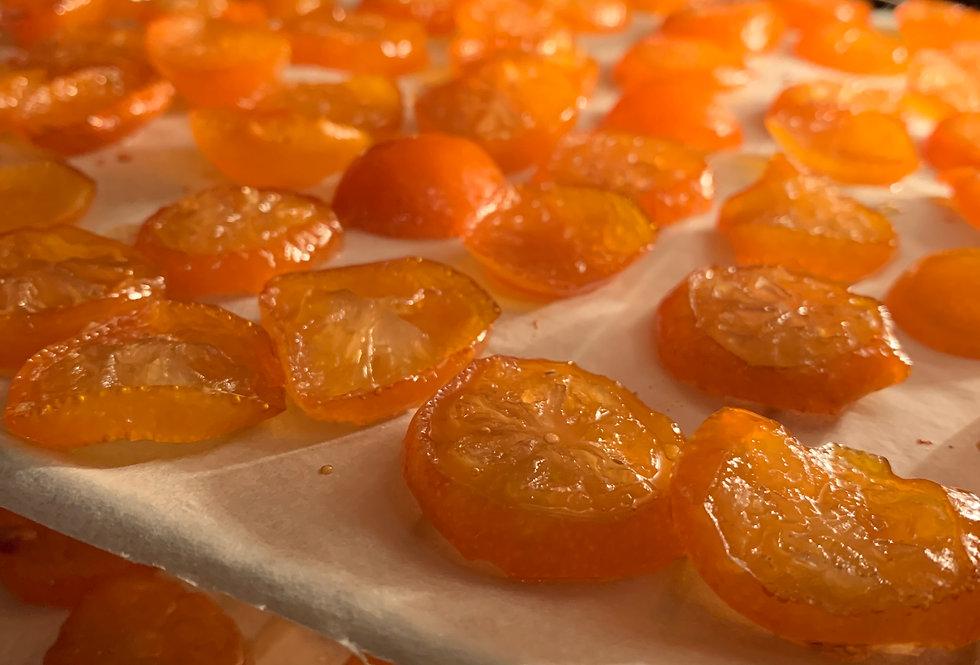 「甘草金柑--大満足サイズ」・限定・春季節のプレゼント・甘酸っぱい味・たまたま金柑使用