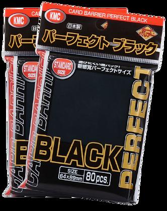 Perfect Fit Black - KMC - 80 Sleeve Packs