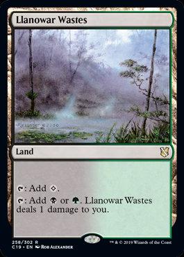 Llanowar Wastes (Commander 2019)