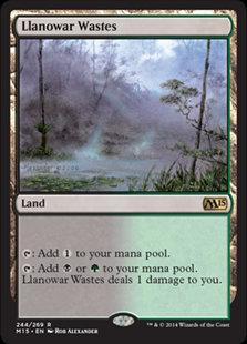 Llanowar Wastes (Core Set 2015)