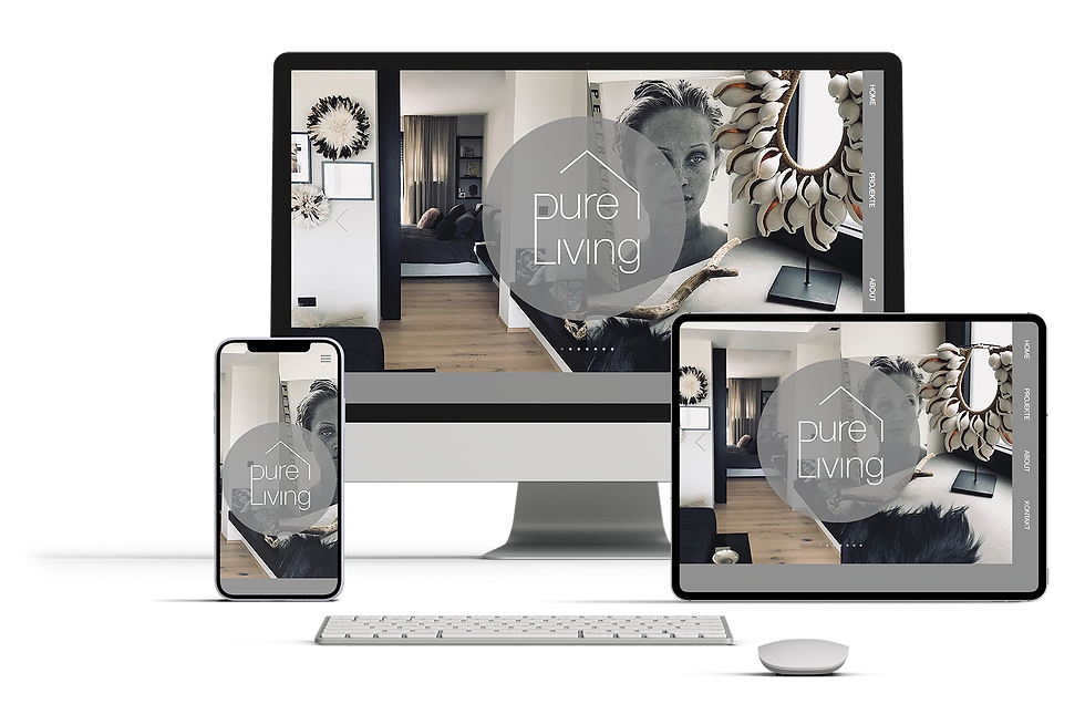 webdesign pureliving responsive