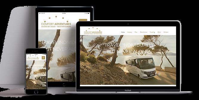 Webdesign Comfort Adventures Wohnmobilreisen Europa