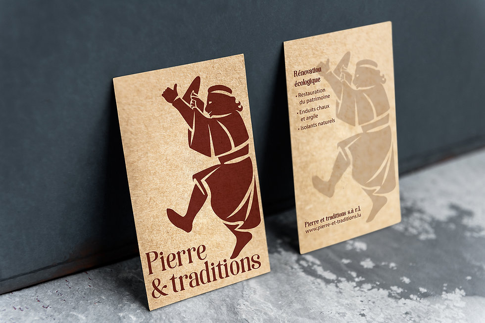 Logodesign Viitenkarte Pierre et Traditions