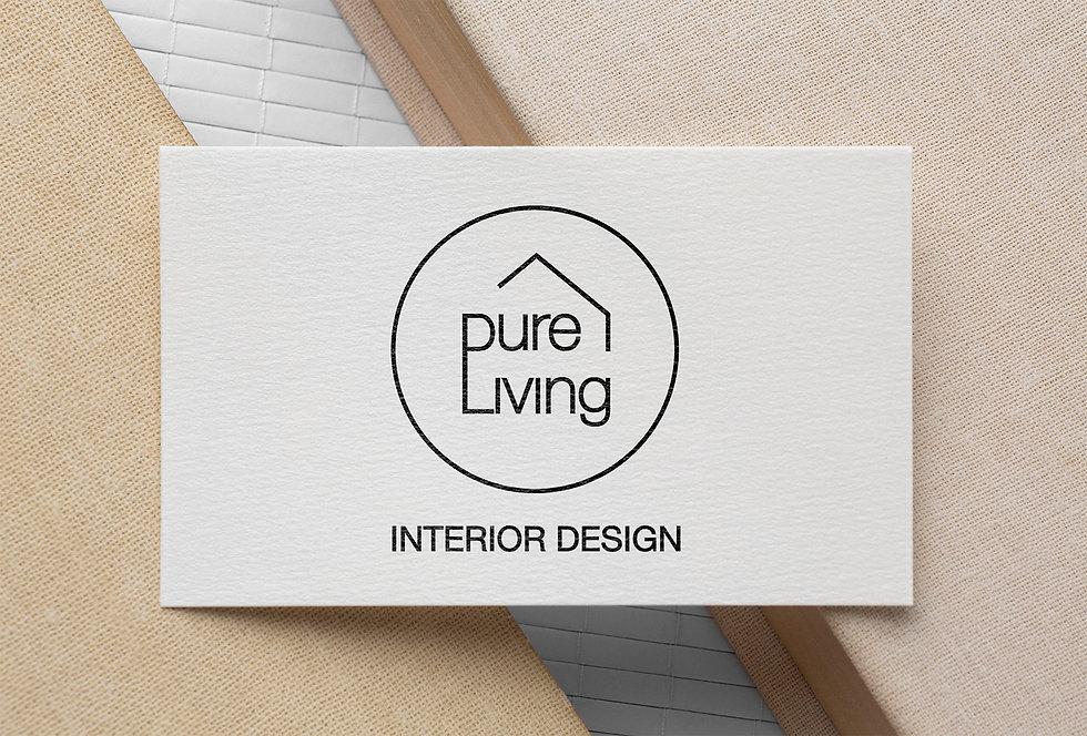 Purelving Logodesign Visitnkarte